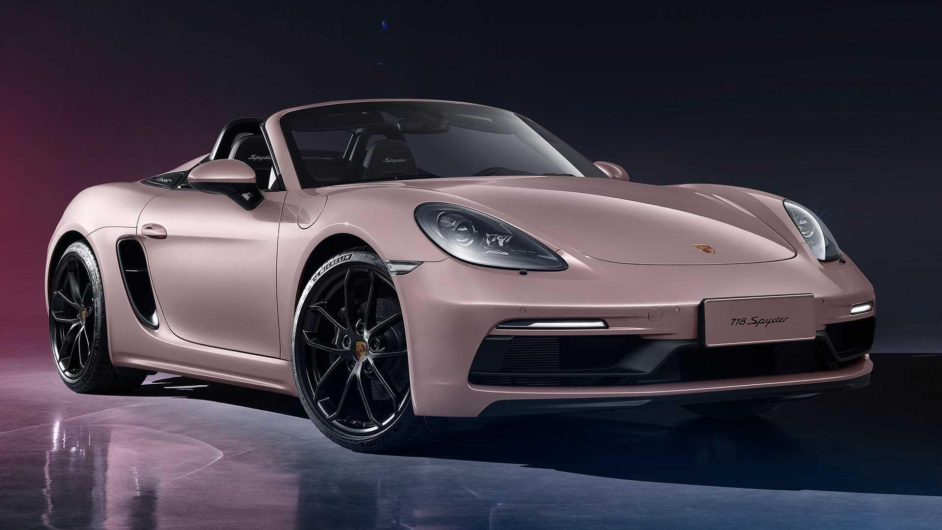 Porsche 718 spyder 2021 4 cylindres