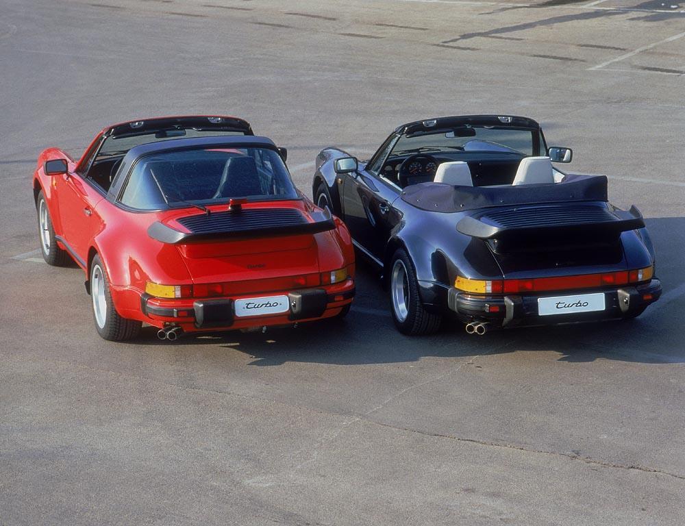 Porsche 930 turbo 3 3 targa cabriolet arriere