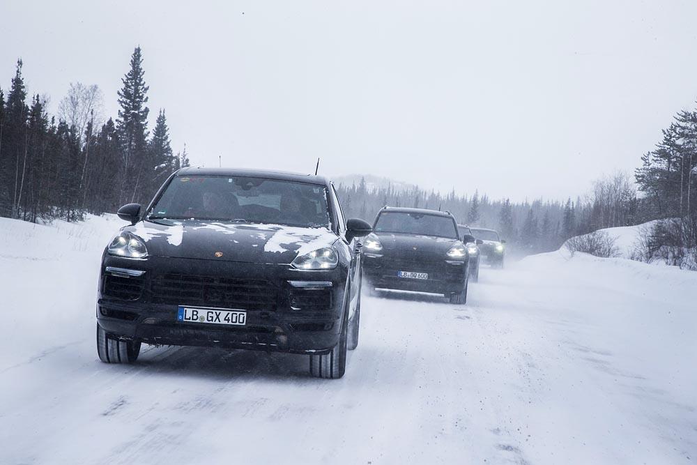 Porsche cayenne 3 test hiver