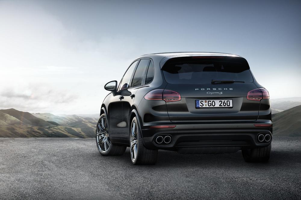 Porsche cayenne platinum edition cayenne s back