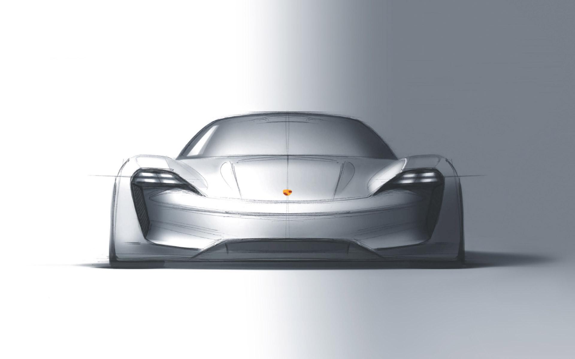 Porsche mission e croquis